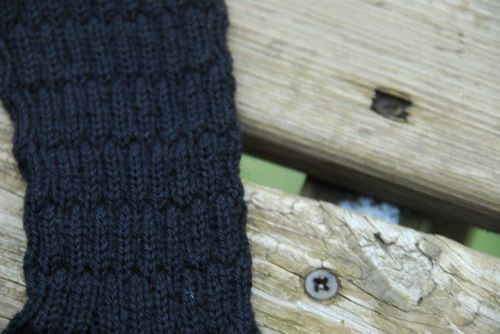Snow_black_sock